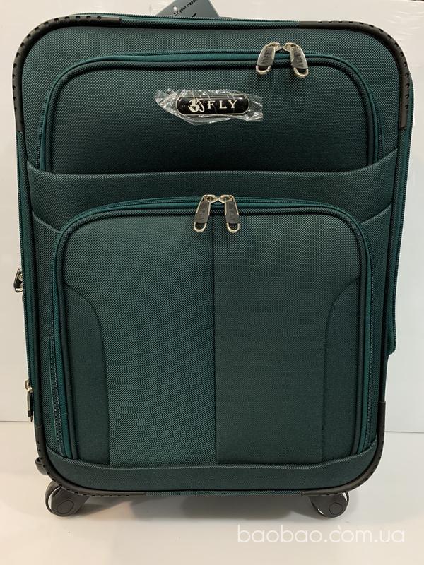 Изображение товара: Чемодан fly ткань 4 колеса зеленый