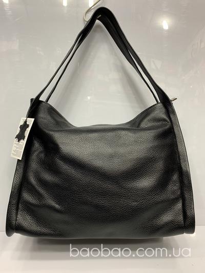1061/1 - сумка из кожи, чёрного цвета