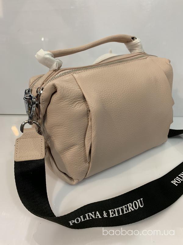 Изображение товара: Polina and eiterou сумочка из телячьей  кожи цвета нюд