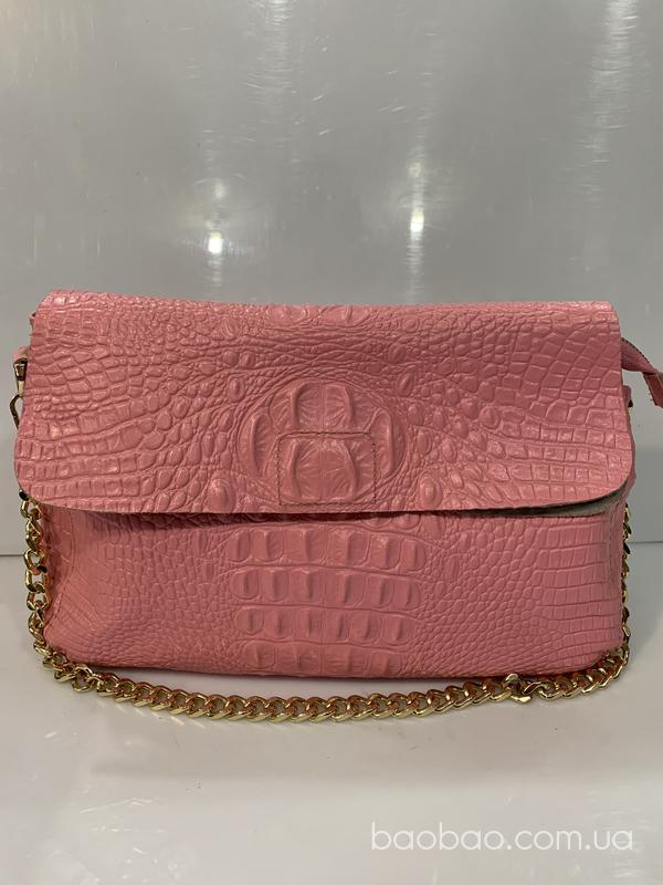Изображение товара: Кожаный багет сумка клатч
