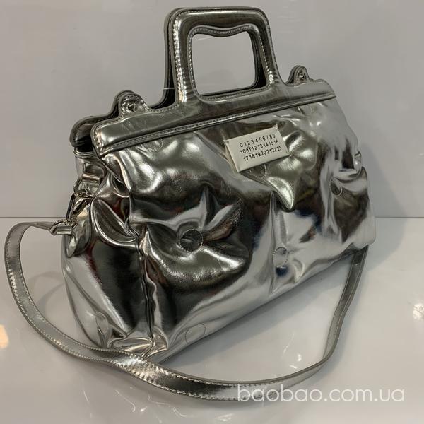 Изображение товара: Дутая серебристая сумка