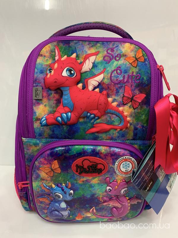 Модный 3D рюкзак для девочки Delune 11-028