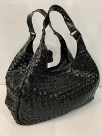 Купить сумку Плетёная кожаная сумка чёрного цвета
