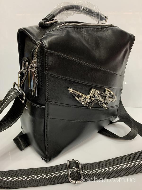 Изображение товара: Рюкзак из полированной телячьей кожи с декором «молнией»