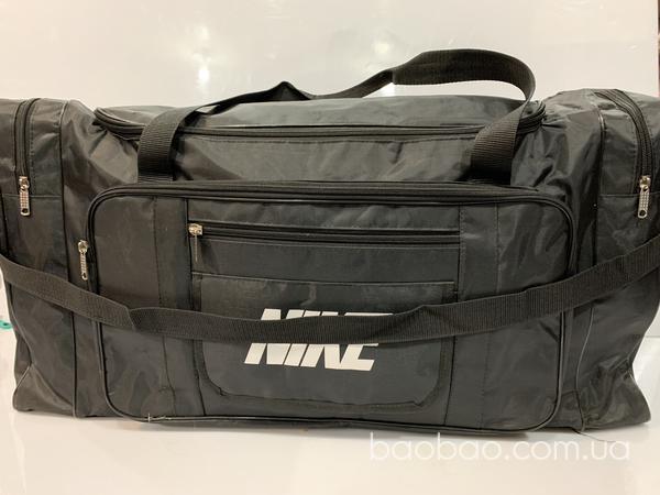 Изображение товара: Дорожно спортивная сумка чёрного цвета