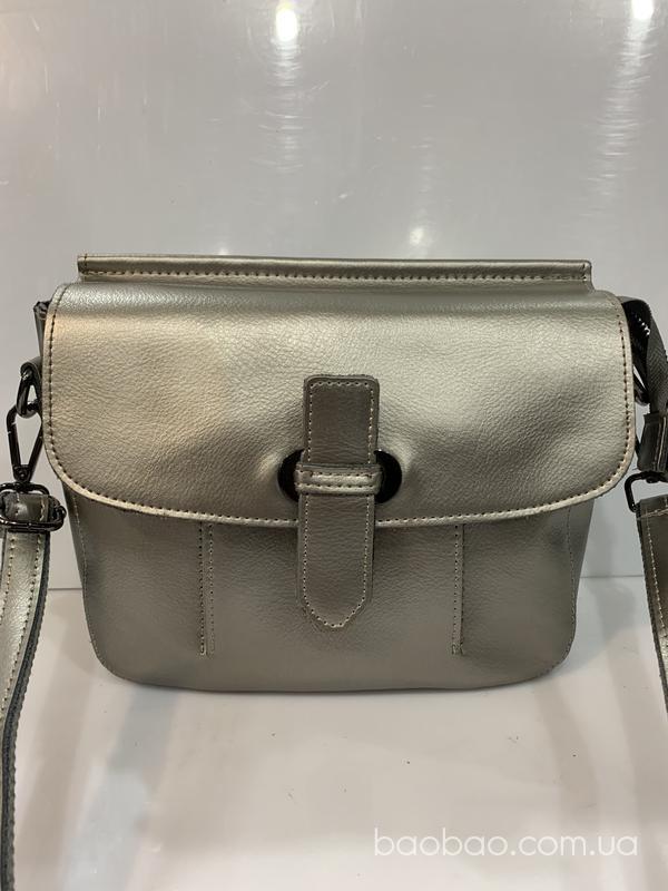Изображение товара: Tom fry кожаная сумка почтальонка цвет мокрый асфальт