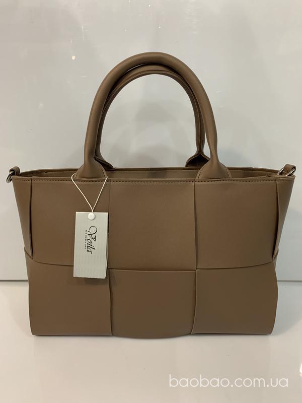 Изображение товара: Voila плетёная сумка темно бежевого цвета