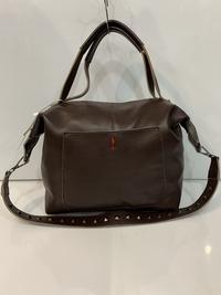 Купить сумку Мягкий саквояж, сумка из телячьей кожи кофейного цвета